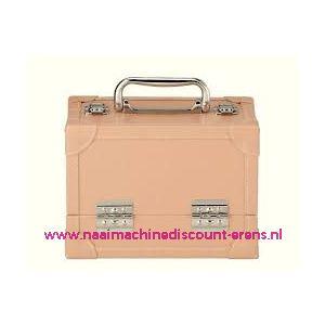 009902 / Leatherlook koffer M beige prym art. nr. 612813