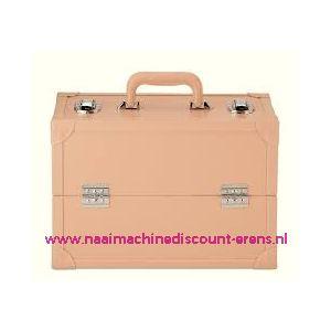 009903 / Leatherlook koffer L beige prym art. nr. 612815