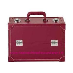 009906 / Leatherlook koffer L rood prym art. nr. 612814
