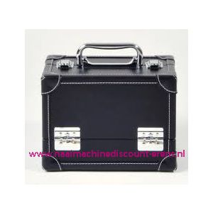 009907 / Leatherlook koffer M zwart prym art. nr. 612820