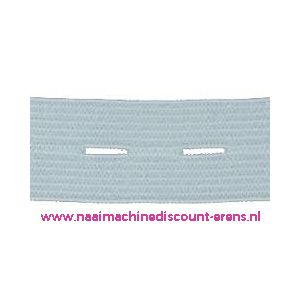 Knoopsgaten elastiek Wit - 9942