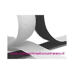 Klittenband 2 Cm kleur zwart voor te plakken - 9951