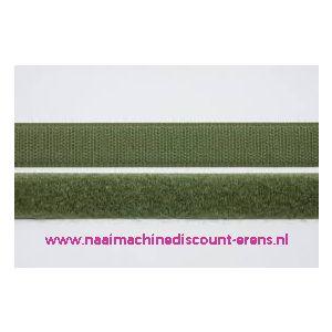 Klittenband 2 Cm kleur mos groen voor te naaien - 9978