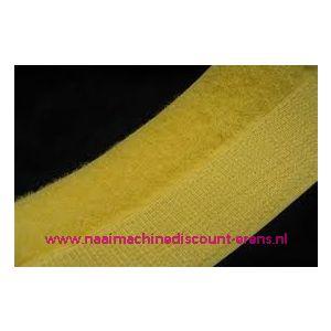 Klittenband 2 Cm kleur geel voor te naaien - 9981
