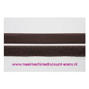 Klittenband 2 Cm kleur donker bruin voor te naaien - 9984
