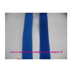 Klittenband 2 Cm kleur kobalt blauw voor te naaien - 9986