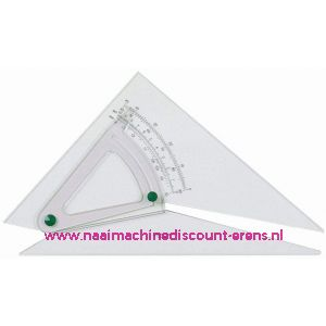 Adjustable Set Square - 30cm - Acryl Transparant