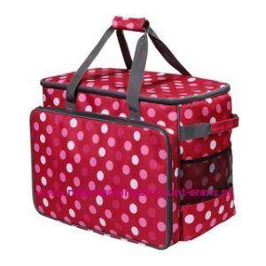 BabySnap naaimachine tas XL ( 50x26x38cm ) Multicolor rood - wit