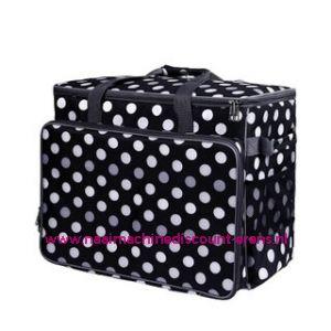 BabySnap naaimachine tas XL ( 50x26x38cm ) Multicolor zwart - wit