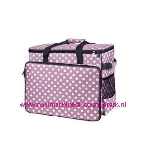 BabySnap naaimachine tas XL ( 50x26x38cm ) Multicolor roze - wit