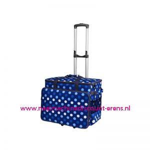 BabySnap naaimachine trolley (50x26x38cm) Blauw-Wit