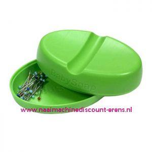 Babysnap magneetspeldenkussen groen incl. deksel en kopspelden