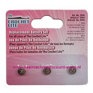 Crochet Lite Battery set 3 stuks