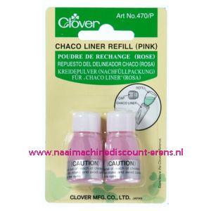 Clover navulling voor Chaco Liner Pen / Rokkenspuit rose art. nr. 470/P