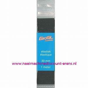 Elastiek Koord Elasta 1,5 mm 5 meter Zwart