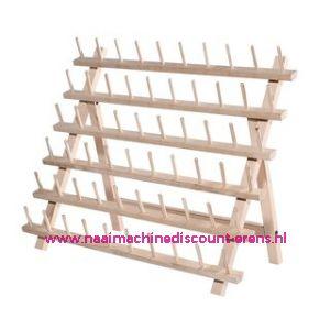 Garenstandaard hout voor 60 klossen 40 x 66 cm