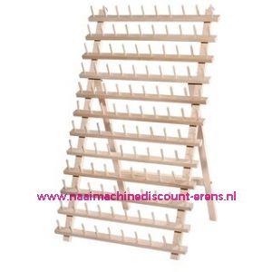 Garenstandaard hout voor 120 klossen 66 x 36 cm