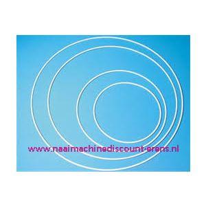 Metalen ring 35 Cm - WIT GECOAT