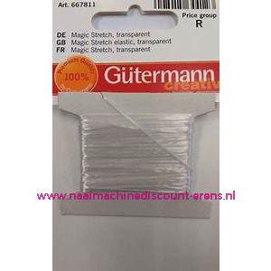 Gutermann Kralen Magic Stretch 0,8 mm 5 meter Wit art. 667811