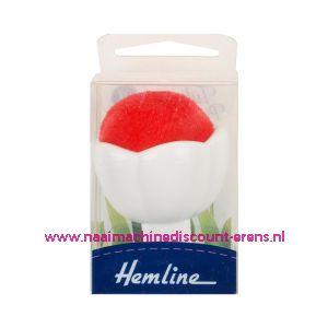 Hemline speldenkussen met zuignap voor op naaimachine rood