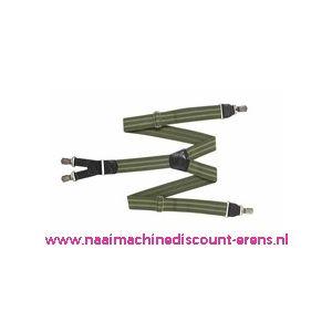 HENDRIK Bretels Groen met 2 licht groene