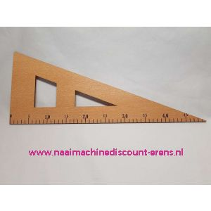 Houten Driehoek Liniaal 50 Cm zonder handvat