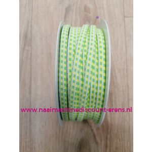 "Sier Elastiek 6 Mm per meter ""Neon groen-geel"""