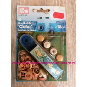 Naaivrijdrukknopen Color Ms Roze 13 Mm  8 Stuks Prym art.nr. 390428