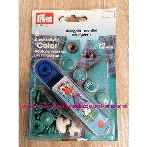Naaivrijdrukknopen Color Ms Mint 13 Mm  8 Stuks Prym art.nr. 390432
