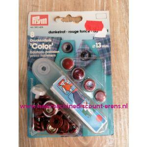 Naaivrijdrukknopen Color Ms Bordeaux 13 Mm  8 Stuks Prym art.nr. 390424
