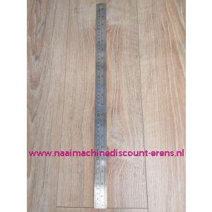 """Liniaal """"SewEasy"""" 50Cm/20Inch Staal Flexibel & Conversietabel van inch naar Mm"""