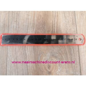 Liniaal 20cm Aluminium Flexibel