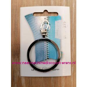"""Modische Schuiver """"metaal ring zilver 60mm"""" UNION KNOPF art.nr. 58361"""