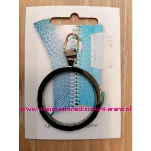 """Modische Schuiver """"metaal ring donker zilver 60mm"""" UNION KNOPF art.nr. 58361"""