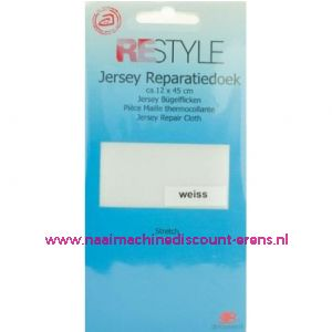 Jersey Reparatiedoek Wit 009 - Restyle