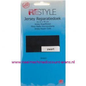 Jersey Reparatiedoek Zwart 000 - Restyle
