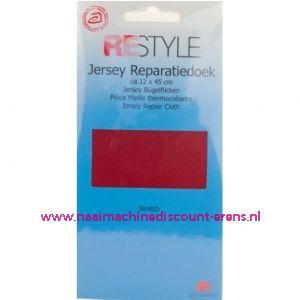 Jersey Reparatiedoek Rood 722 - Restyle