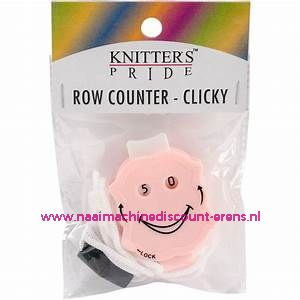 Knitpro row counter - CLICKY - roze