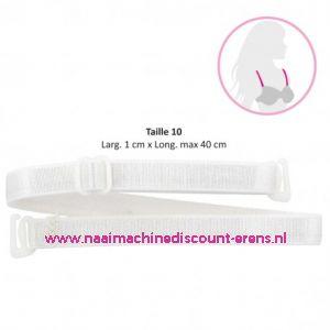 Schouderband satijn wit 10 Mm - MEDIAC