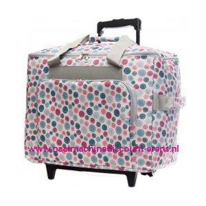 Mobiele koffer polkadot dessin mix art. nr. 4680-340017