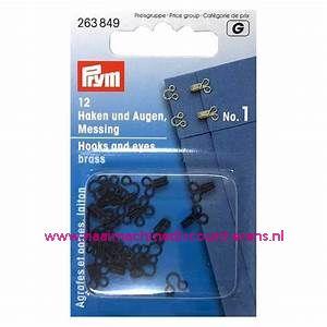 Haken En Ogen no.1 12 stuks Zwart prym art.nr. 263849