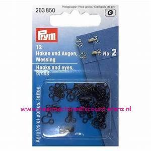 Haken & Ogen no.2 12 stuks Zwart prym art.nr. 263850