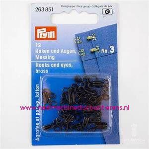 Haken & Ogen no.3 12 stuks Zwart prym art.nr. 263851