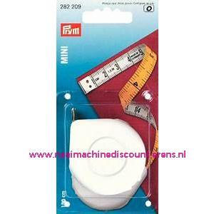 "Rolcentimeters Mini Cm/Cm ""WIT"" 150 Cm Prym art.nr. 282209"