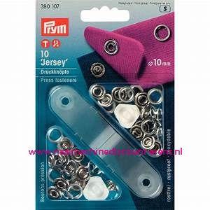 Naaivrijdrukknopen Jersey Ms Tandring 10 Mm Zilverkleur 10 stuks prym art.nr. 390107