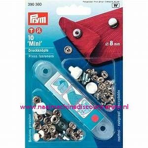 Naaivrijdrukknopen Anorak Mini Zilverkleurig 8 Mm 10 Stuks Prym art.nr. 390360