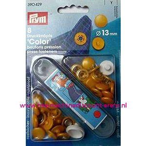 Naaivrijdrukknopen Color Ms Geel 13 Mm  8 Stuks Prym art.nr. 390429
