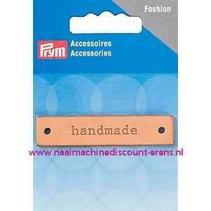 """Label Leer """"Handmade"""" rechthoekig prym art.nr. 403795"""
