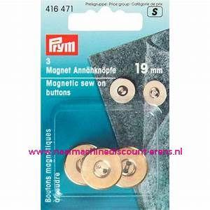 """Magneetknopen 19 Mm 3 stuks """"Goud"""" prym art. nr. 416471"""