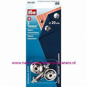 """""""Tenax"""" Veiligheidssluiting Ms Zilverkleurig 20 Mm 2 stuks prym art.nr. 416495"""